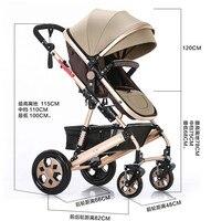 TIANRUI Baby Stroller 8 Free Gifts Folding Carriage Pushchair Portable Pram High Landscape Newborn Infant Sit