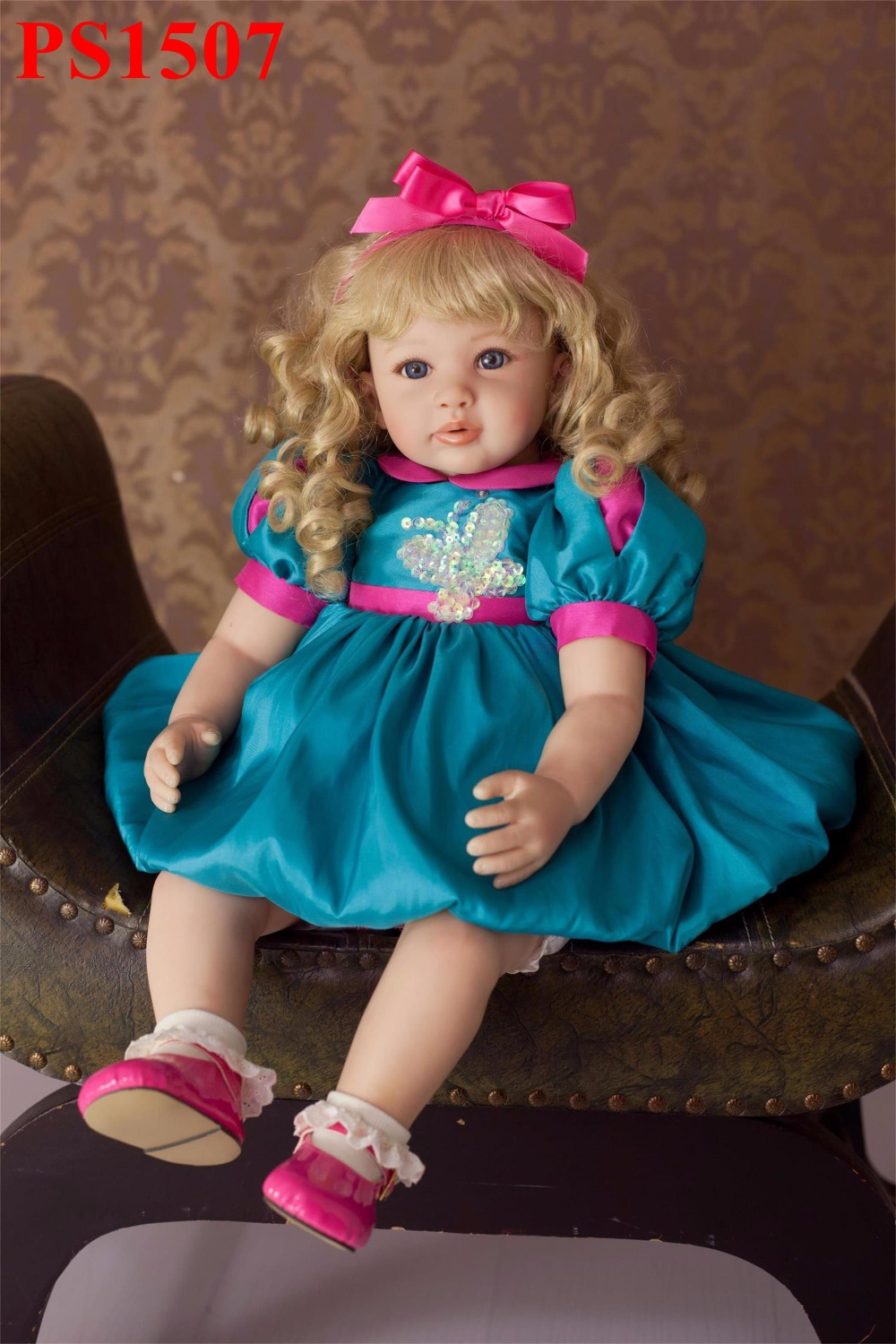 60cm Silicone Vinyl Reborn Baby Doll Toy Lifelike Toddler Princess Like Alive Bebe Girls Boneca Birthday Gift Play Doll Toys 2016 hot now fashion original edition sofia the first princess doll vinyl toy boneca accessories doll for kids best gift