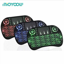 Original Backlit i8 Mini Wireless Keyboard with Russian English Hebrew Arabic Air Mouse For Android TV BOX PC Laptop
