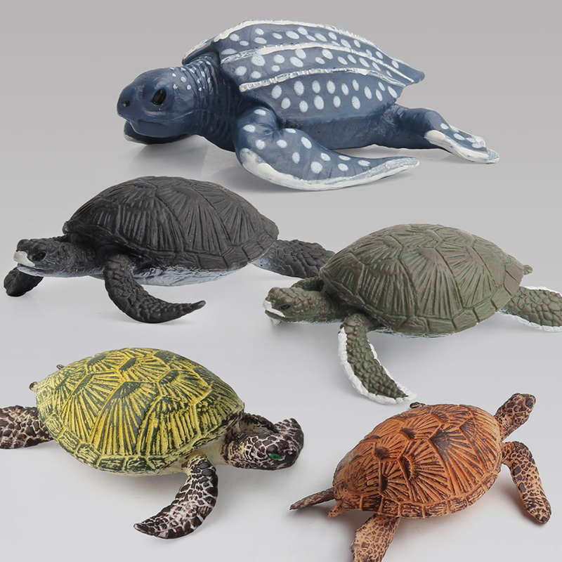 Sea Turtle 10 Styles Several Colors In Safe PVC Increase Children Marine Biology Knowledge Sealife Animal Plastic Model Toy in Action Toy Figures from Toys Hobbies