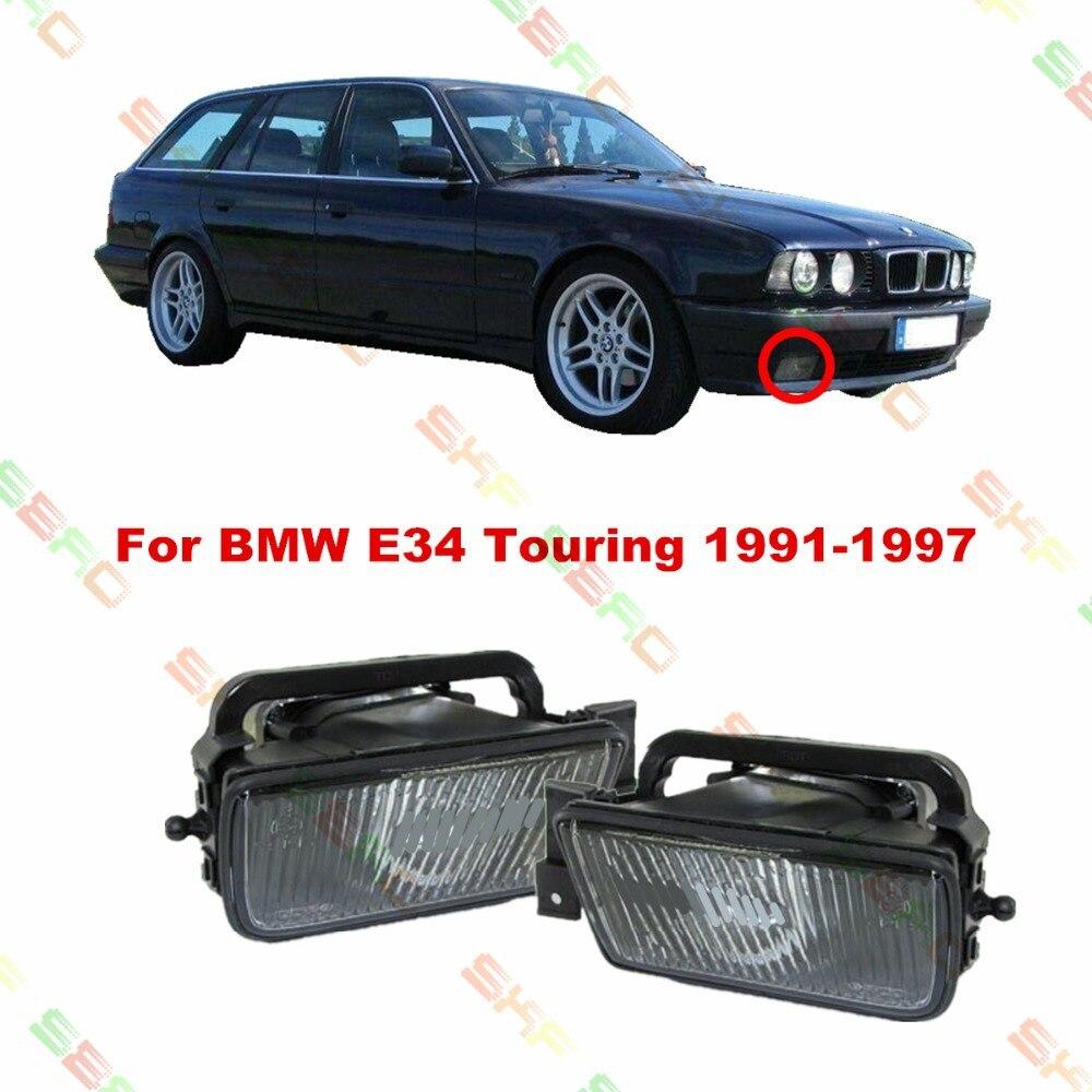 For BMW E34 Touring  1991/92/93/94/95/96/97   car styling fog lights   1 SET FOG LAMPS car styling fog lamps for bmw e91 touring 2005 2007 1 set