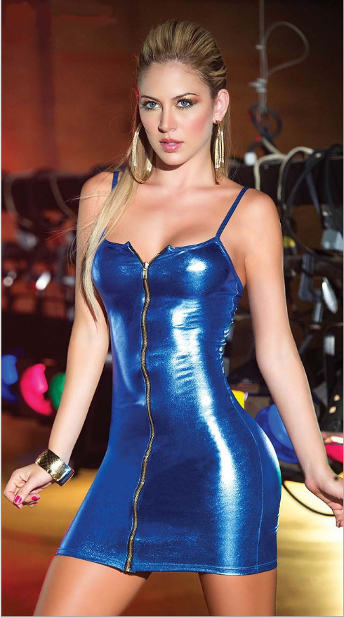 Erotic Sexy Lingerie Plus Size Women Erotic Dress Faux Leather Zip Clubwear Exotic Apparel Sex Bondage Costumes Underwear M-XXL