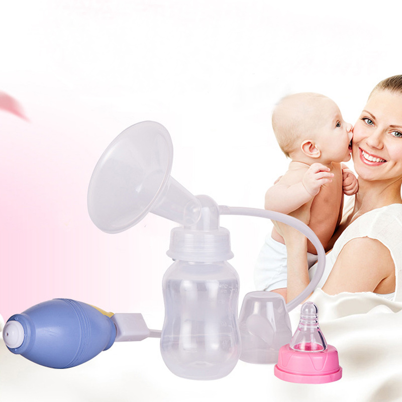 Women Mom Milk Pumps Nipple Manual Breast Pump Baby Feeding Breast Pump BPA Free YH-17