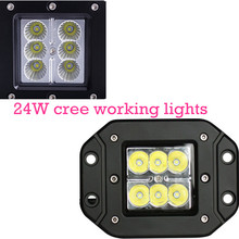 for Motorcycle Tractor Truck Trailer Off road Driving Vehicle 2pcs LED Work Light 24W Spot Lamp high quality
