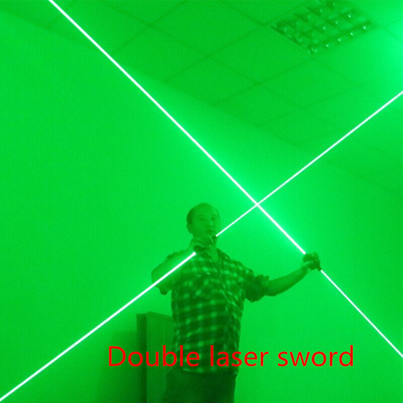 Laser sword of the double - head laser sword - Cu Guangzhu stage performance props laser rod 100MW laser head kss 123a