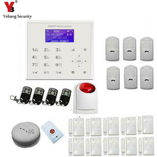 YobangSecurity Touch keypad WIFI GSM IOS Android APP Wireless Home Burglar Security Alarm System Smoke Sensor Fire Detector