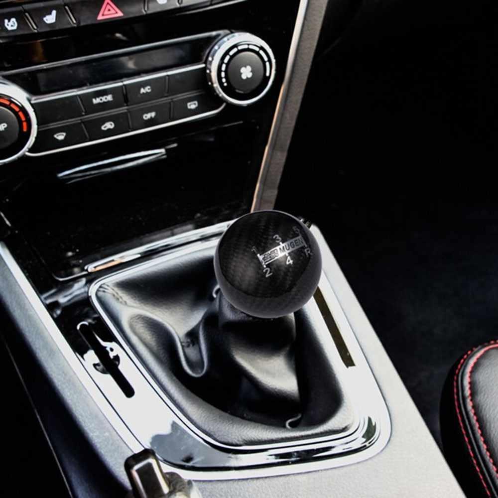 Black Gear Shift Knob Universal 5 Speed Car Manual Gear Shift Knob,Aluminum Alloy Handle Shifter Head for Car