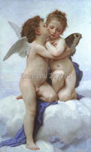 free shipping angel Canvas printed Religion Oil Painting canvas prints angels wall art decoration painting for bedroom(China)
