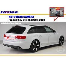 Cámara de Visión Trasera Para AUDI Audi A4/S4/RS4 2001 ~ 2008/Cámara de marcha atrás/CCD HD RCA NTST PAL/Lámpara de La Matrícula OEM