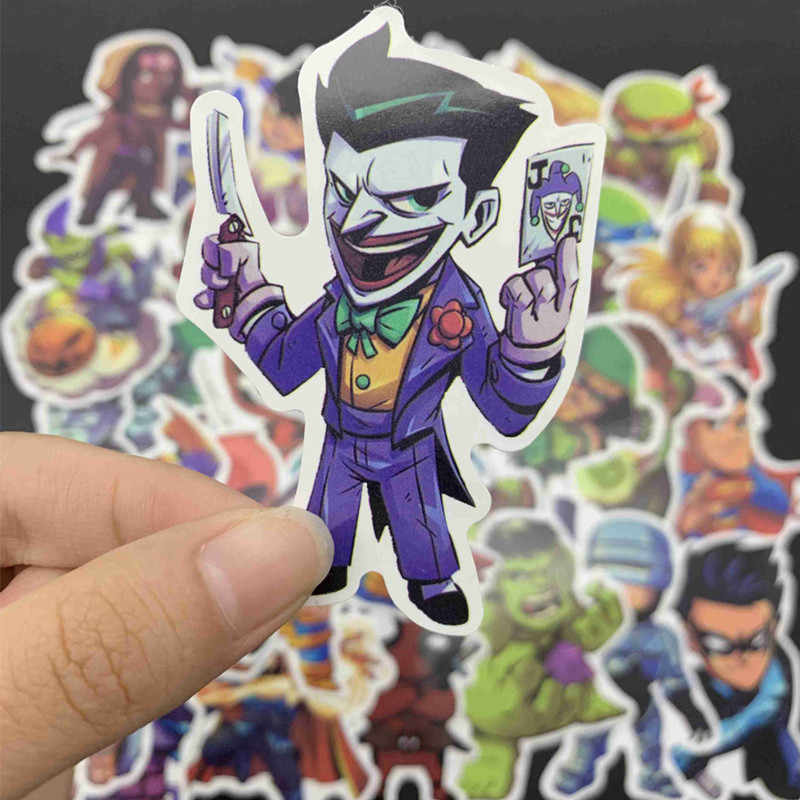50Pcs Marvel Cartoon Superhero Stickers Avengers Funny Sticker for DIY Skateboard Motorcycle Luggage Laptop Cartoon Sticker