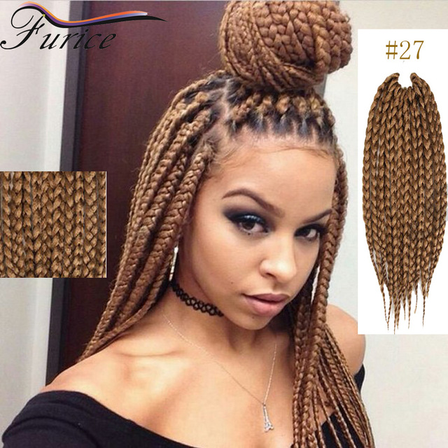 18 Inch Color 27 Box Braids Hair Curly Braiding Crochet Extensions