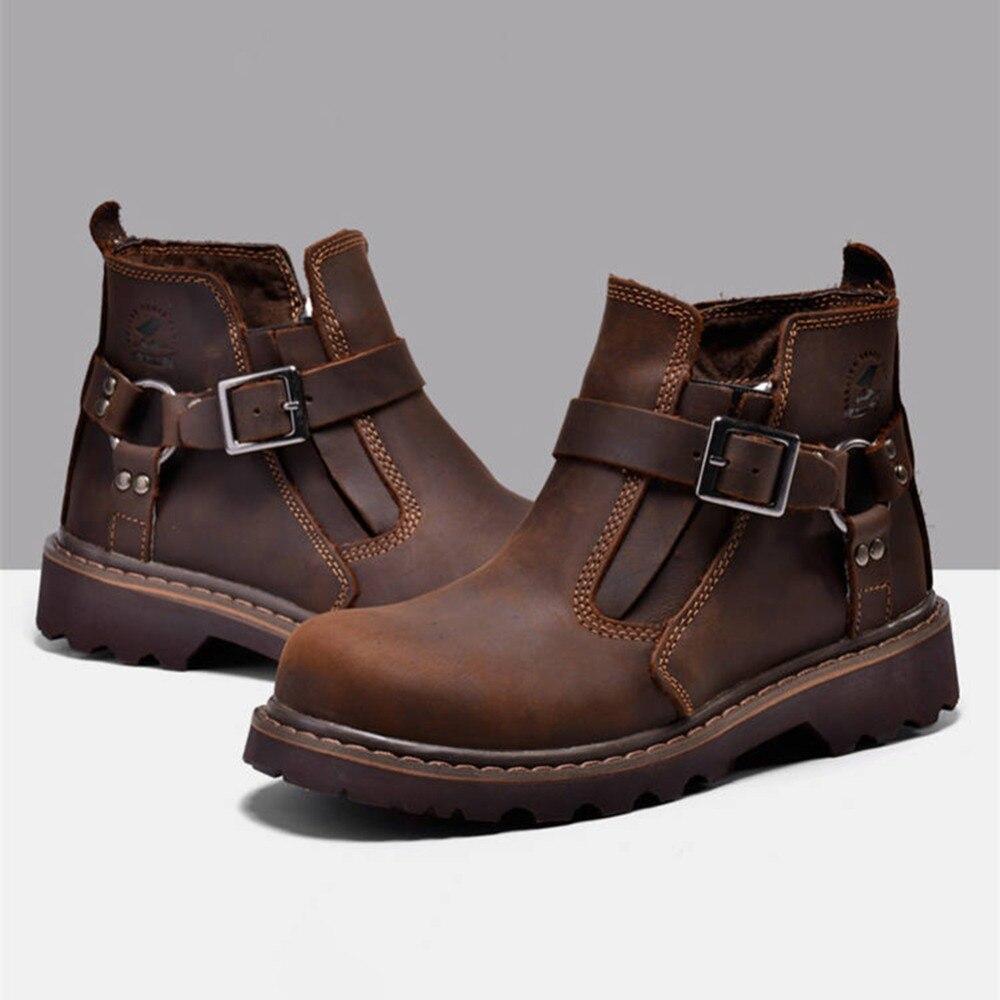 Bottes Cowboy De Hiver Chaud Étanches Hommes No Lacets Loisirs Combinaisons Courtes En 281646 Automne D'hiver Cuir Étanche qBqwxtpI6
