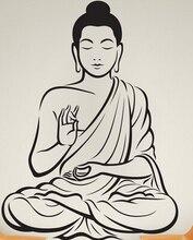 Buddha Vinyl wandaufkleber Buddha Yoga Gott Om Wandtattoo Meditieren Buddha Indien Asiatischen Spirituelle Erwachen Eine wohnkultur