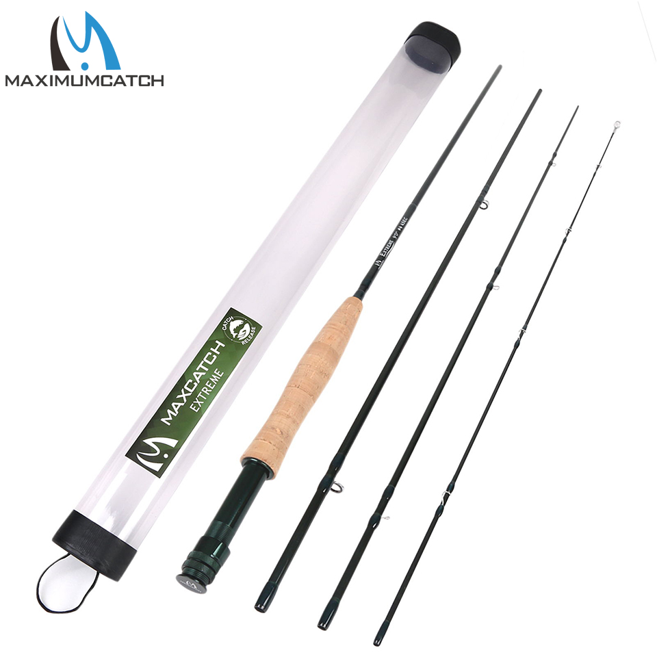 Maximumcatch 3/4/5/6/7/8/10WT Fly Rod 9FT 4Pieces Medium-fast Graphite IM8 Fly Fishing Rod maximumcatch 6 5 9ft pink fly rod 2 5wt 4pieces 30t carbon fiber medium fast fly fishing rod for ladies