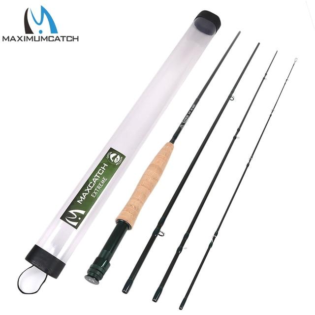 Maximumcatch 3/4/5/6/7/8/10WT Fly Rod 9FT 4Pieces Medium-fast Graphite IM8 Fly Fishing Rod