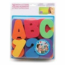 36 шт./компл. Дети Детские игрушки для купания плавание игрушки плавающие игрушки с рисунком + Алфавит развивающие буквы, цифры мальчиков и девочек игрушки