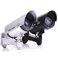 Поддельные пустышки камера пуля водонепроницаемый открытый Крытый безопасности CCTV камеры наблюдения мигающий красный светодиодный для до...