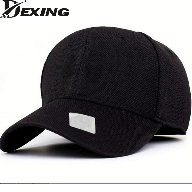 [Dexing]Spandex Elastic Fitted Hats solid black Sun screen Bs