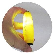 MOKURU Anti-stress apaziguador de Desktop Aleta Brinquedo tumbler Brinquedos luz LED Concentração Trainer Kururin Mesa de Natal Verde Amarelo