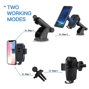 Image 3 - FDGAO Qi Car Wireless Charger for iPhone 8 X XR XS Max 11 Pro Samsung S10 S9 S8 Note 10 9 8 10W Fast Charging Mount Phone Holder