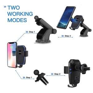 Image 3 - FDGAO Qi Caricabatteria Da Auto Senza Fili per il iphone 8 X XR XS Max 11 Pro Samsung S10 S9 S8 Nota 10 9 8 10W Veloce di Ricarica Supporto Del Supporto Del Telefono