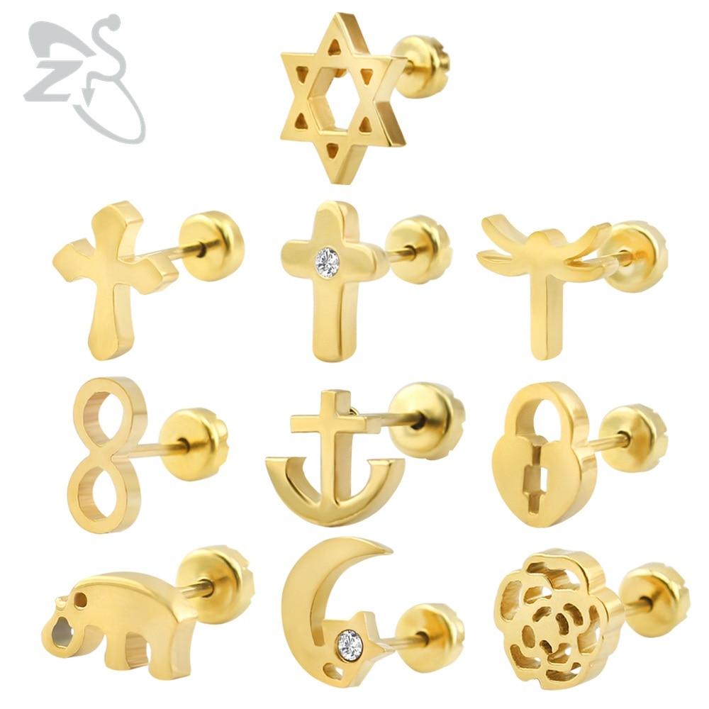 Baby Oorbellen RVS Kinderoorbellen Mode-sieraden Meisje Stud Earing - Mode-sieraden - Foto 3