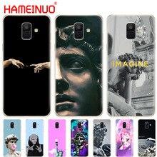 HAMEINUO Retro Vintage arte estatua cubierta del teléfono funda para Samsung Galaxy J4 J6 J8 A9 A7 2018 A6 A8 2018 más j7 duo
