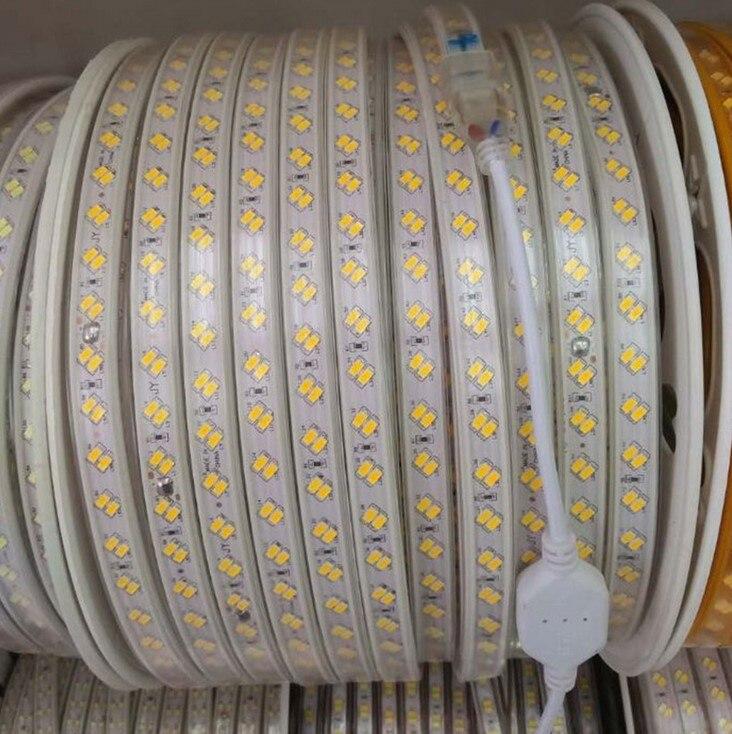 110 V 220 V AC Светодиодные ленты огни 5630 5730 Теплый Холодный белый высочайшего Luminums Светодиодные ленты освещения Водонепроницаемый IP65