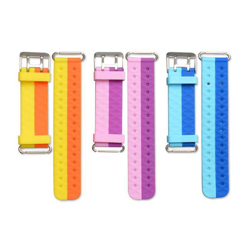 Q750 Q100 Q60 Q80 Q90 Strap Replace Watchband Smart Accessories Children's GPS Watch Tracker Silicone Wrist Belt with Connection
