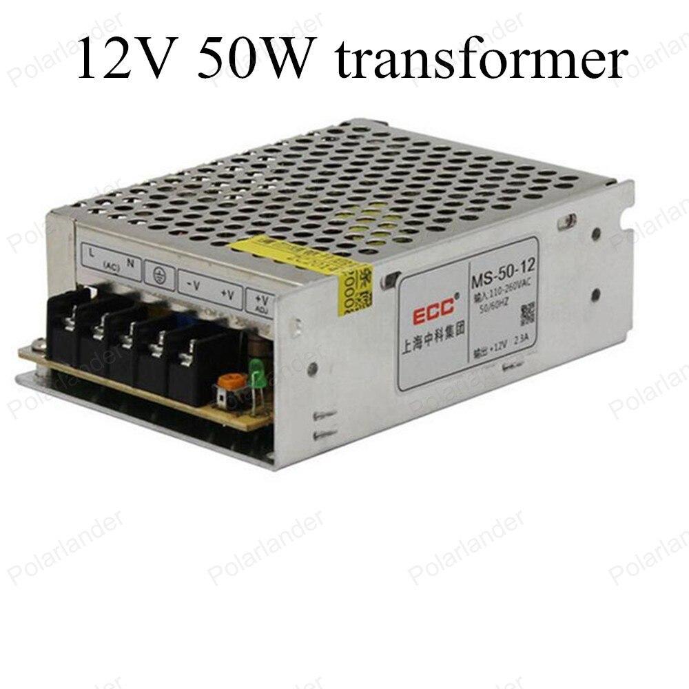 AC 220V 50~60HZ to DC 12V LED strip Driving mini size power supply 50W High quality Insulating aluminum Lighting Transformer