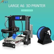 Новинка! Анет A6 A8 E10 3D-принтеры широкоформатной печати Размеры легко собрать точность RepRap i3 3D-принтеры комплект DIY с бесплатными нитей