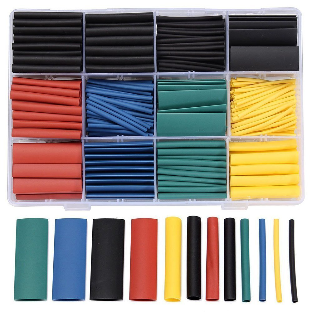 medium resolution of 530pcs lot wiring harness 2 1 shrink ratio assorted diy electronic heat shrink tubing wrap insulation wire cable sleeve kit a19 in cable sleeves from home