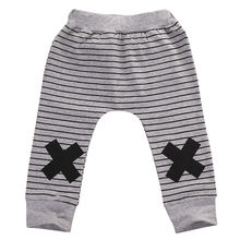 New Infant Baby Boys Girls Warm Cotton Striped Monster Corss Sport Bottom Pants Leggings Harem Pants Boys Pants 0-2Y