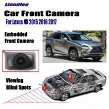 Liandlee Car Front View Camera Logo Embedded For Lexus NX 2015 2016 2017 / 4.3 LCD Screen Monitor / Cigarette Lighter Switch