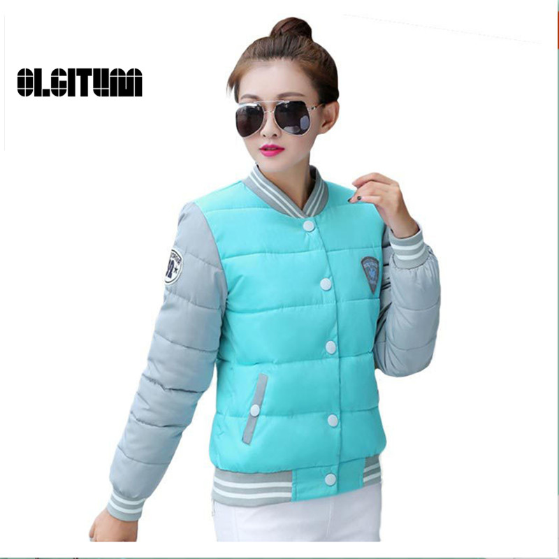 OLGITUM Fashion warm jackets winter coat Women s women cotton female parkas uniform winter jacket LJ755