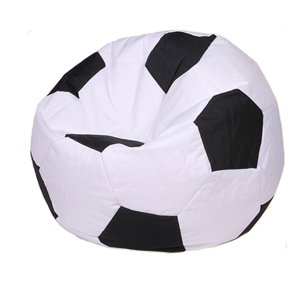 Adult Football Soccer Black And White Bean Bag Lazy Sofa BAG ONLY