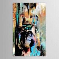 Gratis Verzending 100% Handgeschilderd Hoge Kwaliteit olieverf sexy Meisje terug Muur Art Pop Art Olieverfschilderij menselijk portret