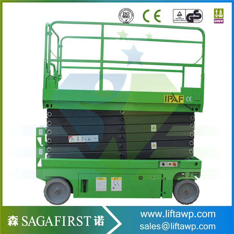 Hydraulic Scissor Air Lift Table With Solid Tires Wheels