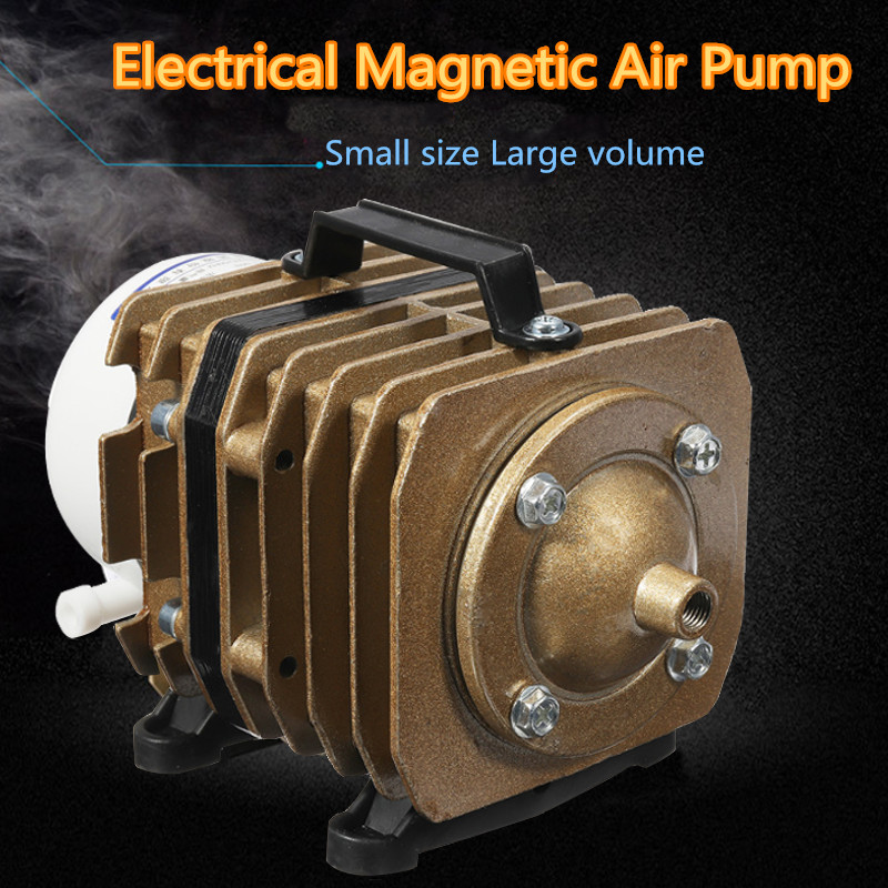 45 W 220 V 50L/min Électromagnétique Compresseur D'air D'aquarium Pompe À Air Aquarium Aqua Bulle D'air De La Pompe Portable outil