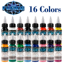 High Quality Tattoo Ink Fusion 16 Colors Set 1 oz. 30ml/bottle Paint Kit for 3D Makeup Beauty Skin Body Art