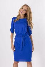New commuting style slim waist A-shaped dress seven-sleeve clothingstyle medium-long pendulum hot spring and summer