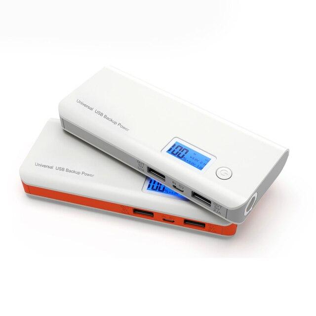 12000 мАч Power Bank Dual USB ЖК-Дисплей СВЕТОДИОДНЫЙ Фонарик 18650 Аккумулятор портативное Зарядное Устройство powerbank Для мобильного телефона
