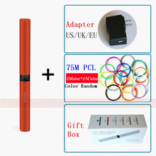 New 2018 Original Red 3D Pens 1.75mm PCL 3 D Printing Pen Drawing Pen Automatically remove jam design Creative Gift For Design