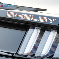 Airspeed SHELBY Car Emblems Lettering For Ford Shelby Mustang Cobra GT500 Rear Trunk Decklid Emblem Badge Stickers Car styling