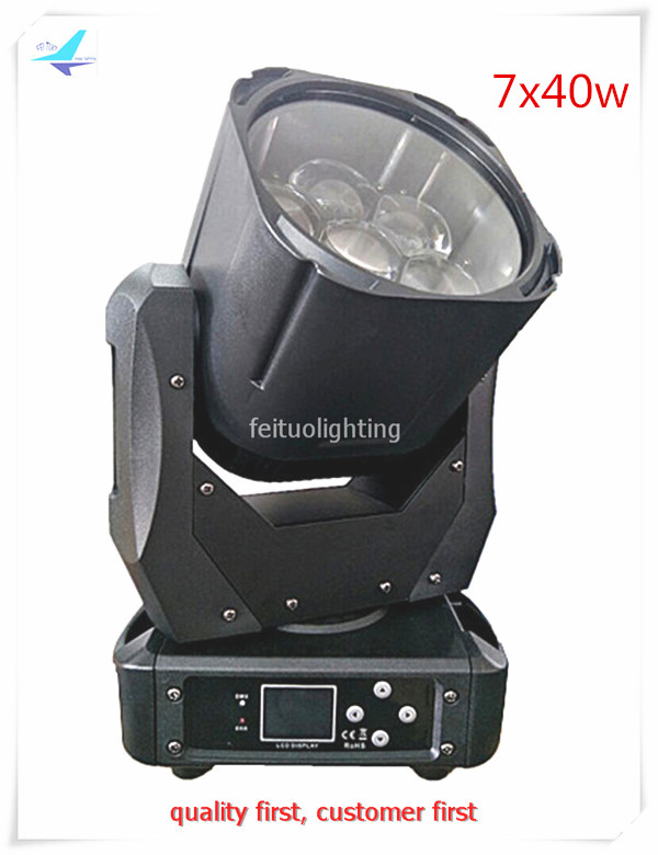 free shipping 12pcs/lot RGBW Beam Moving Head Lighting Stage Light 7x40w High Power Zoom Wash Moving Head DMX Party DJ Lumiere free shipping hot sale mini led moving head wash light rgbw quad dj lighting