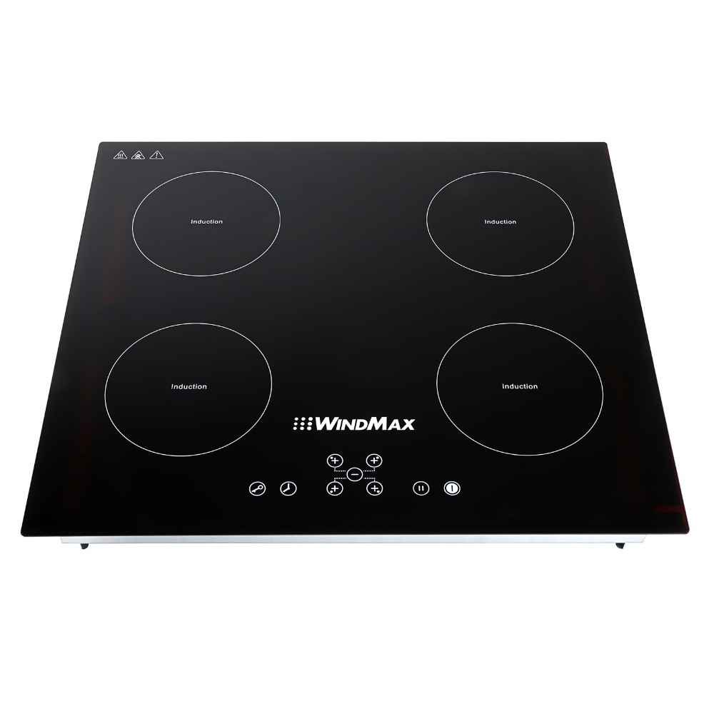 windmax euro 23inch 220v 6800w induction hob 4 burner stoves glass plate cooker in induction. Black Bedroom Furniture Sets. Home Design Ideas