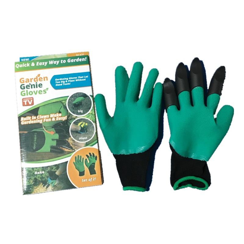 Garden Gloves for Digging /& Planting with 4 ABS Plastic Claws gardening gloves
