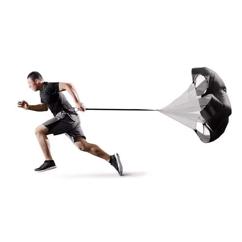 Professional Speed parachute Training umbrella Soccer Resistance rope Running Chute for Football bodybuilding stamina Power цена