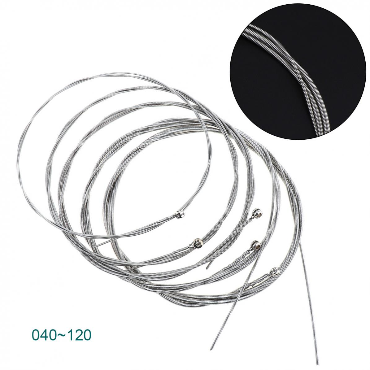 Orphee VX130 Electric Bass Strings Hexagonal Steel Nickel Alloy Wire Medium Light Strong 5 Strings Guitar Accessories