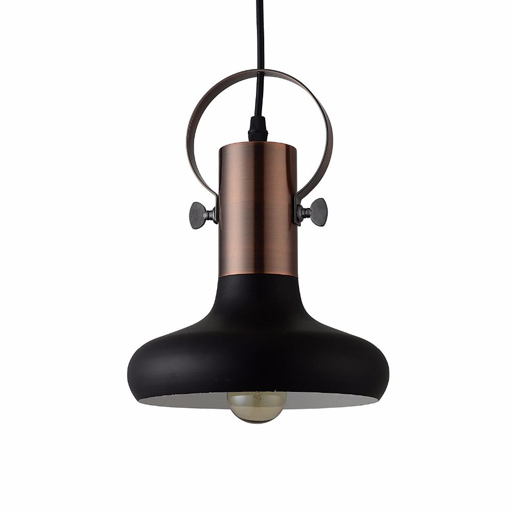 Free Shipping Pendant Lights Industrial Light Black Metal 1- Light For Kitchen Island Living Room Bedroom
